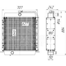 Радиатор охлаждения Амкодор А-352