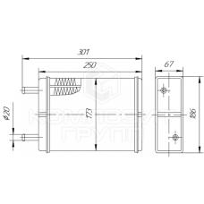 Радиатор отопителя ГАЗ-3302 Газель
